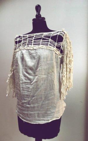 Hippie Shirt Bluse Boho Crochet Style Beach look