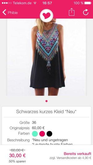 Hippie Sommerkleid mit Muster hinten/vorn