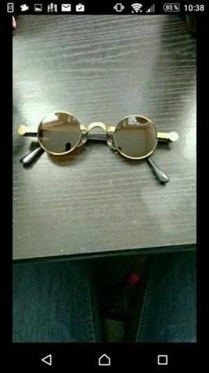 Hippie Sonnenbrille braun Gold