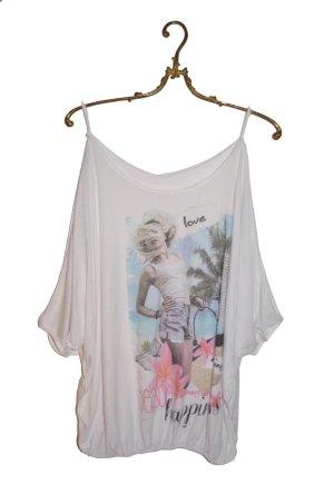 Hippie Style Cold Shoulder Shirt Gr. S/M Oversized