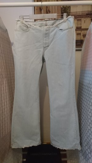 Benetton Denim Flares baby blue cotton