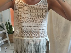 H&M Crochet Top white-black