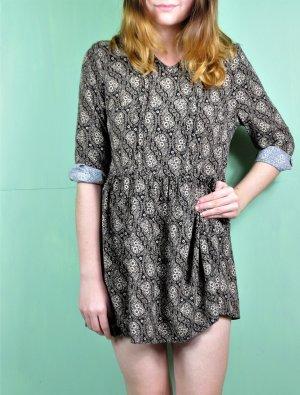 Hippie Tunika / Kleid mit Schößchen und floralem Muster