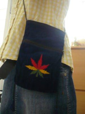 Hippie Umhängetasche Motiv Hanfpflanze