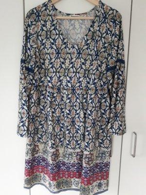 Tamaris Hippie Dress cornflower blue cotton