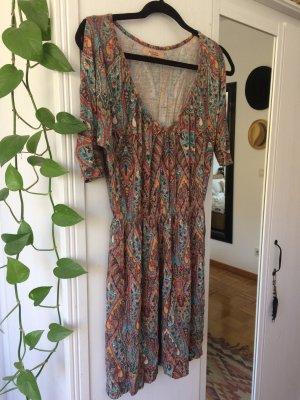 Bershka Hippie Dress multicolored