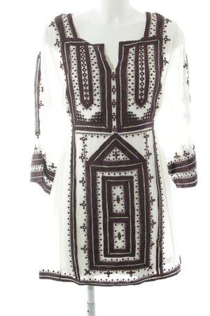 Hippiekleid hellbeige-purpur Aztekenmuster Hippie-Look