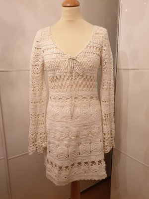 Stefanel Vestido Hippie blanco-blanco puro