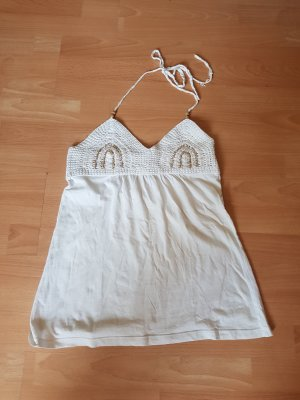 Bershka Gehaakt shirt wit Katoen