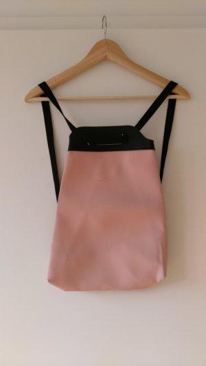 Zaino laptop nero-rosa chiaro