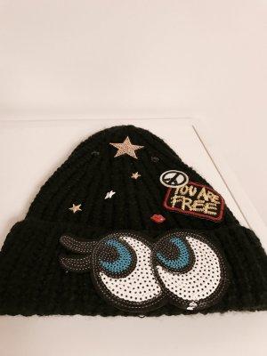Hipster-Mütze mit Patches
