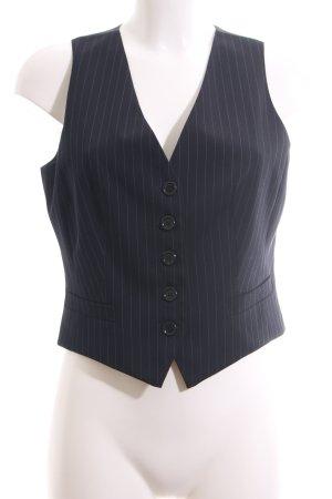Hirsch Gilet de costume noir motif rayé style d'affaires