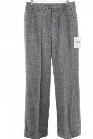 Hirsch Pleated Trousers grey-black check pattern Brit look