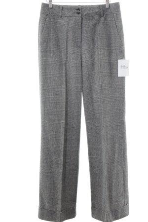 Hirsch Pantalon à pinces gris-noir motif à carreaux style anglais