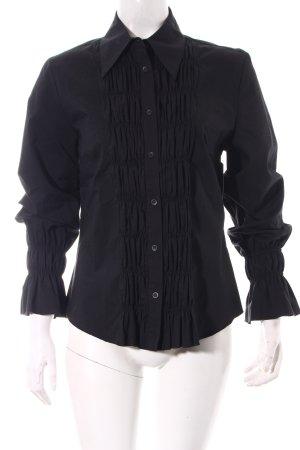 Hirsch Hemd-Bluse schwarz Elegant