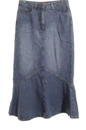 Hirsch Jeansrock dunkelblau Jeans-Optik