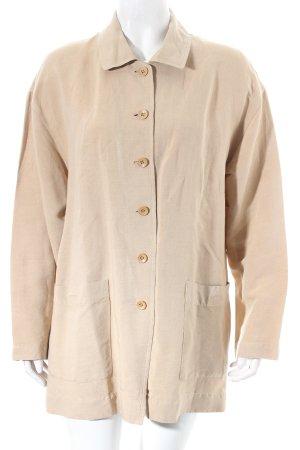 Hirsch Langarm-Bluse beige minimalistischer Stil