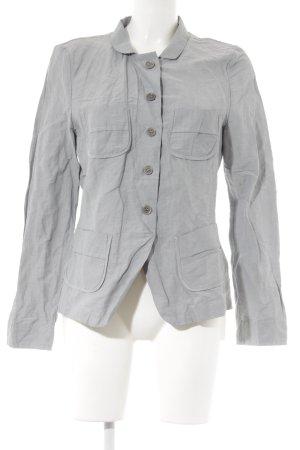 Hirsch Langarm-Bluse hellgrau-grau schlichter Stil