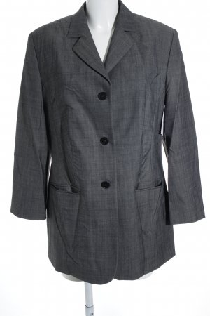 Hirsch Long-Blazer grau Business-Look