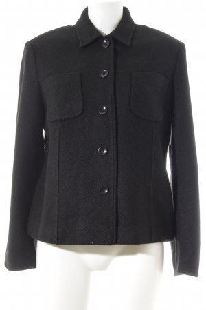 Hirsch Wolljacke schwarz Business-Look