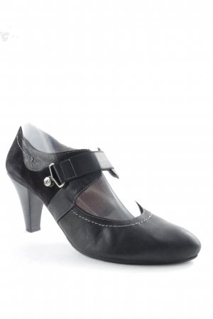 Hispanitas Escarpins Mary Jane gris anthracite-noir style décontracté