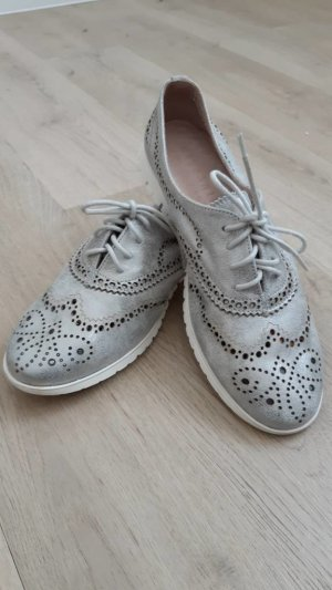 Hispanitas Wingtip Shoes silver-colored-light grey