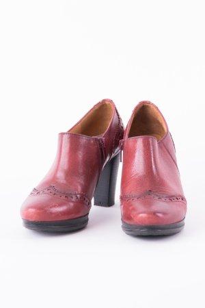 HISPANITAS - Verspielte Ankle Boots Weinrot