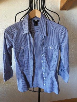 HM Hemdbluse, blau-weiß gestreift, Gr. 34