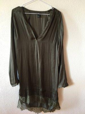 HM Hemdkleid mit Spitze, khaki-dkl.grün, Gr. 36
