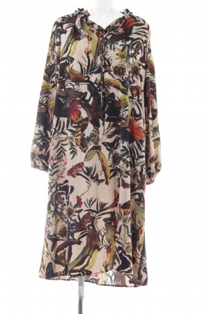 HM Hippie Dress floral pattern casual look