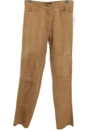 HM Pantalon en cuir chameau style décontracté
