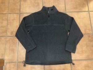 Pull polaire gris anthracite-gris