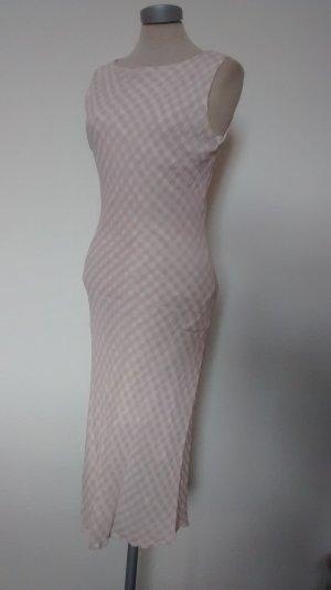 Hobb's Kleid lang Sommerkleid rosa weiß kariert Gr. UK 12 EUR 40 M