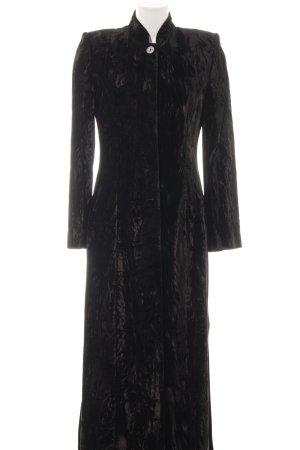 Hobbs bodenlanger Mantel schwarz extravaganter Stil
