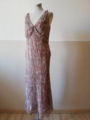 Hobbs Gr. UK 14 40 42 L 100% Seide Seidenkleid Sommerkleid Midikleid lang Kleid