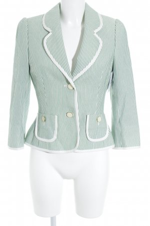 Hobbs Short Blazer natural white-green striped pattern extravagant style
