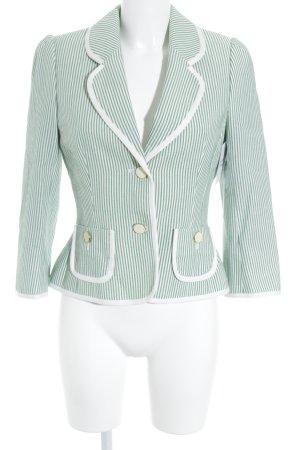 Hobbs Kurz-Blazer wollweiß-grün Streifenmuster extravaganter Stil