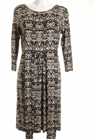 Hobbs Midi Dress oatmeal-black abstract pattern casual look