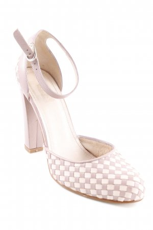 Hobbs Strapped pumps mauve-pink check pattern casual look