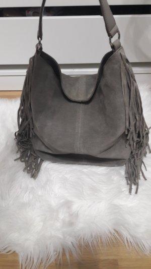 Hobo Bag aus Velourleder