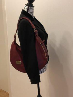 Hobo Bag Red von Samsonite Black Label in Leder mit passendem Kosmetiktäschchen