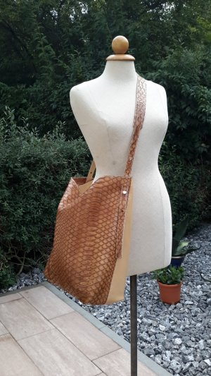 Hobo Bag/Shopper INMA DOMENESCH cognacbraun/hellbraun NEU