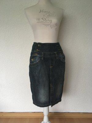 TRF High Waist Skirt blue-steel blue