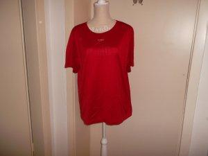 hochertiges,rotes neuwertiges t-shirt,grösse 42/44,baumwolle,von geiger