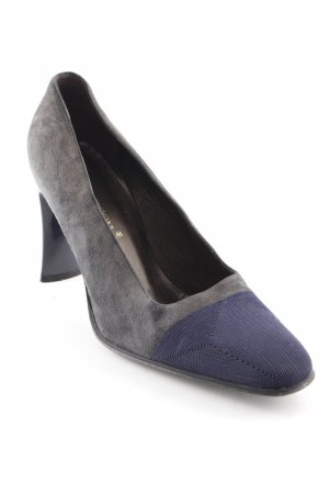 High-Front Pumps anthracite-dark blue business style