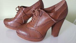 Graceland Chaussure à talons carrés cognac