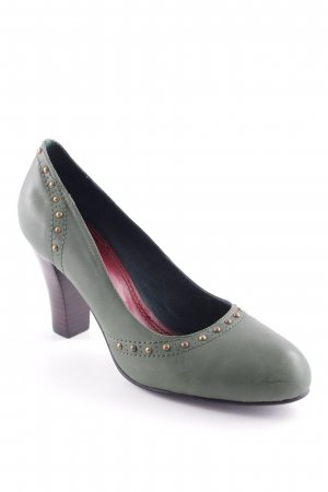 High-Front Pumps khaki-gold-colored business style