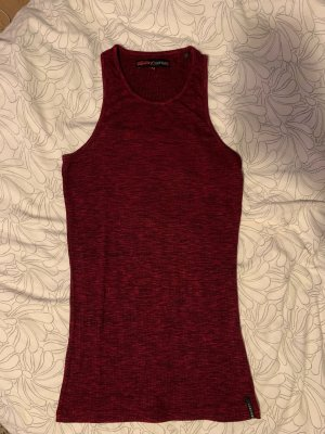 Superdry Tank Top black-bordeaux