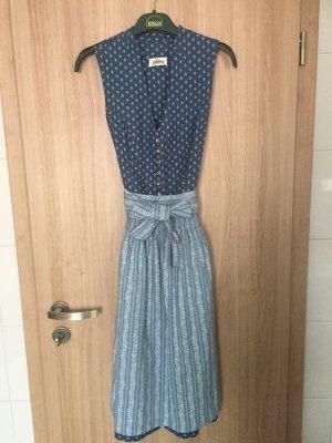 Hochgeschlossenes Vintage Dirndl der Marke Almsach, Größe 36, Farbe blau