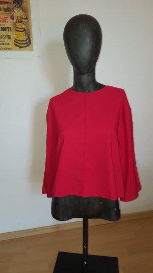 hochgeschnitte Bluse mit leichtem A- Schnitt